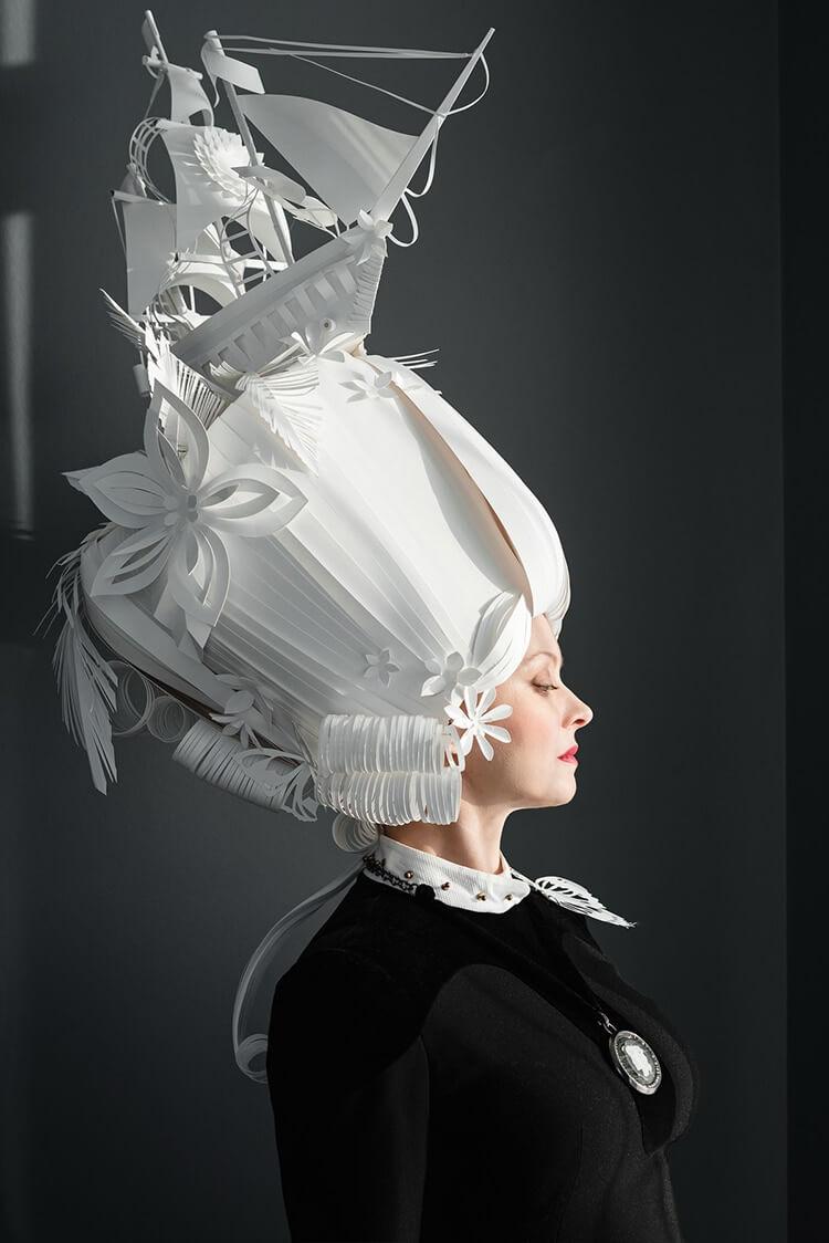 Парики из бумаги в стиле барокко, фото 6