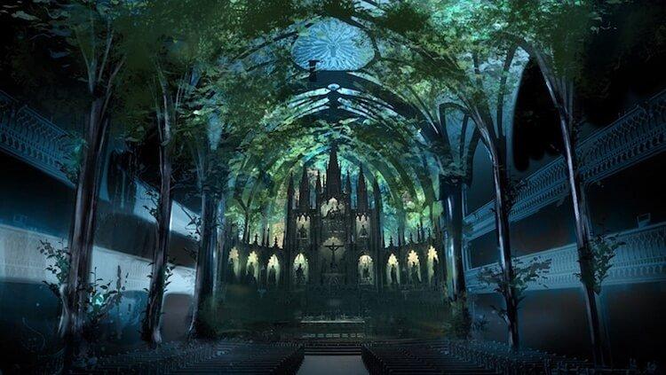 Мультимедийная инсталляция в Базилике Нотр-Дам, фото 5