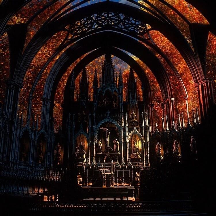 Мультимедийная инсталляция в Базилике Нотр-Дам, фото 7