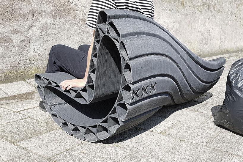Скамейка из переработаного пластика, фото 3