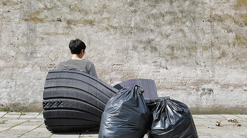 Скамейка из переработаного пластика, фото 5