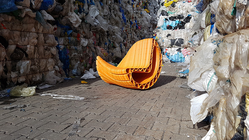 Скамейка из переработаного пластика, фото 6