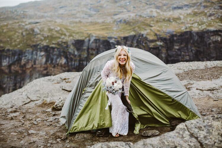 Свадебная фотосессия на Языке Тролля, фото 5