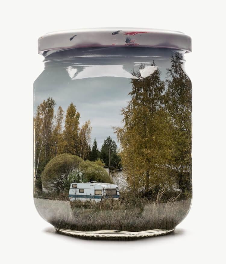 Фотографии природы в стекляных банках, фото 10