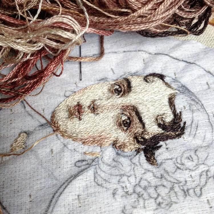 Вышитые портреты эпохи Возрождения, фото 6