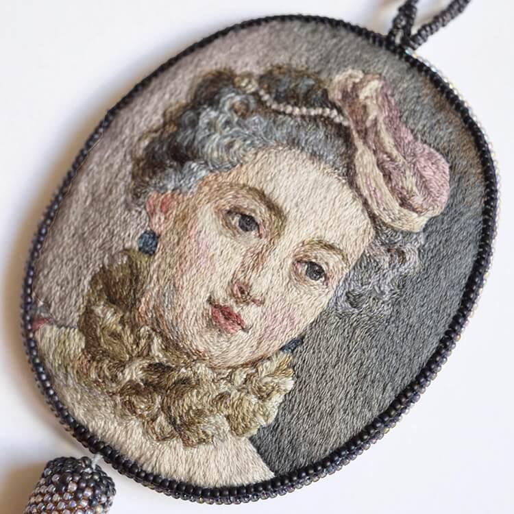 Вышитые портреты эпохи Возрождения, фото 7