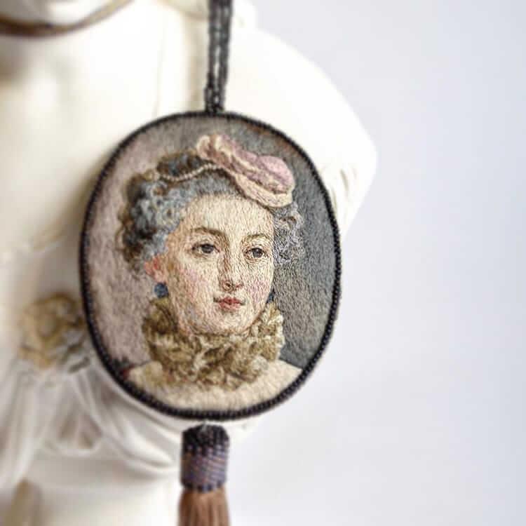 Вышитые портреты эпохи Возрождения, фото 8