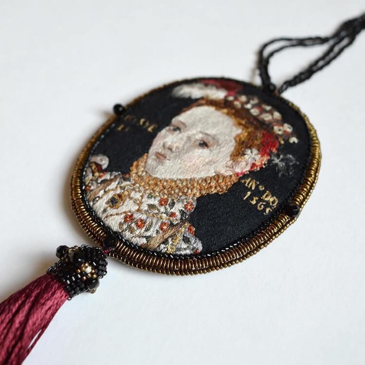 Вышитые портреты эпохи Возрождения, фото 1