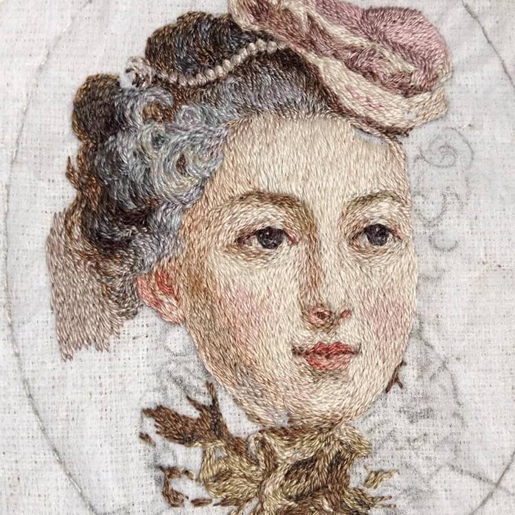 Вышитые портреты эпохи Возрождения, фото 13
