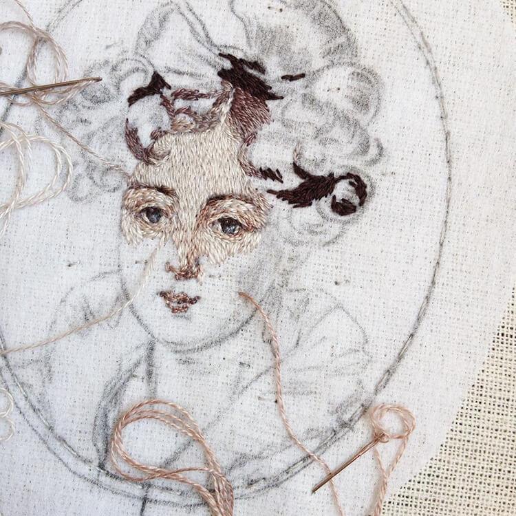 Вышитые портреты эпохи Возрождения, фото 14