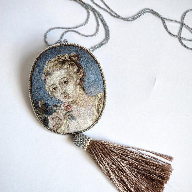 Вышитые портреты эпохи Возрождения, фото 15