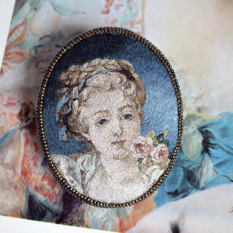 Вышитые портреты эпохи Возрождения, фото 17