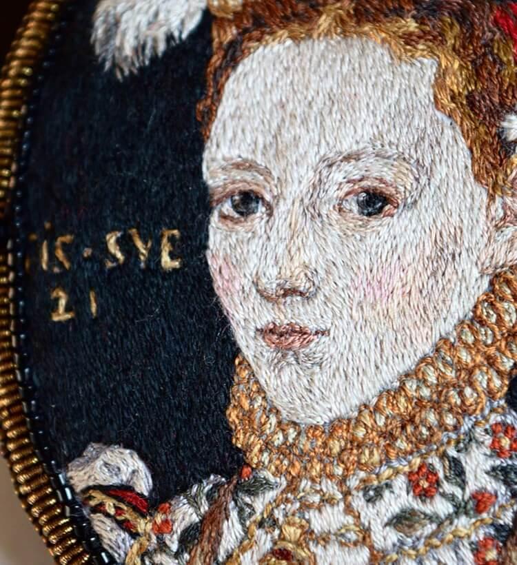 Вышитые портреты эпохи Возрождения, фото 3