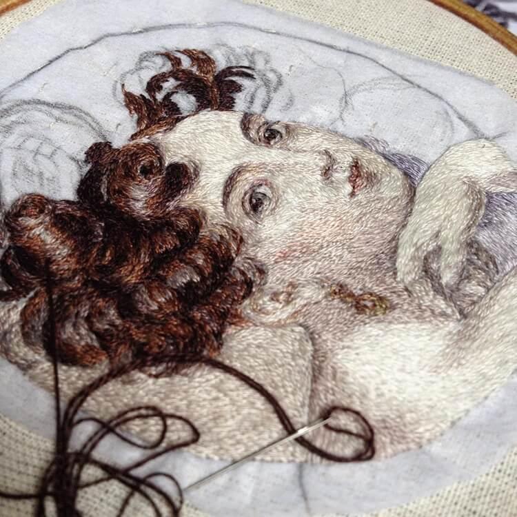 Вышитые портреты эпохи Возрождения, фото 5