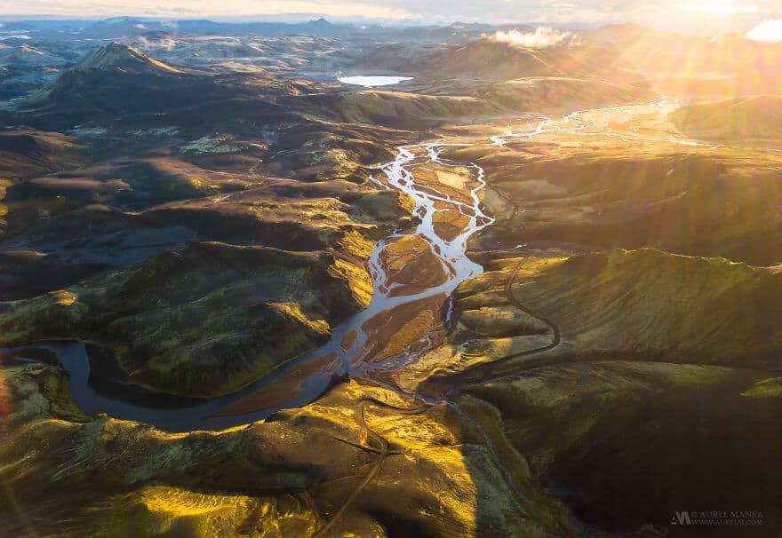 потрясающие виды Исландии, фото с дрона 1