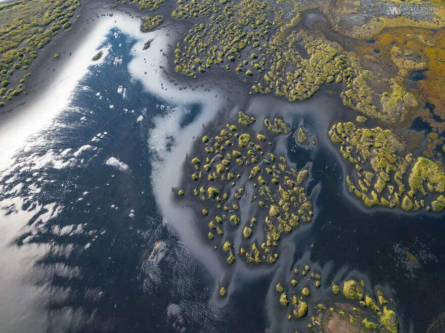 потрясающие виды Исландии, фото с дрона 10