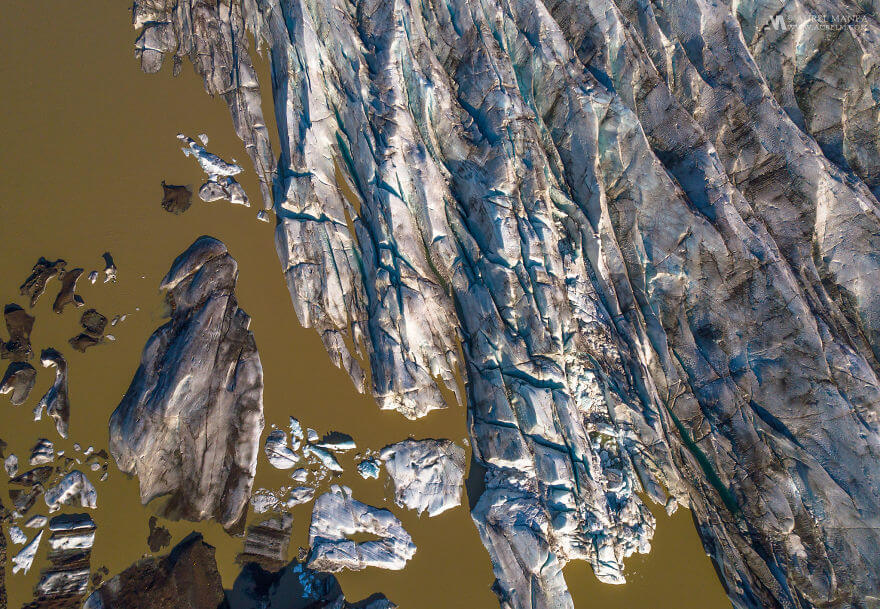 потрясающие виды Исландии, фото с дрона 15