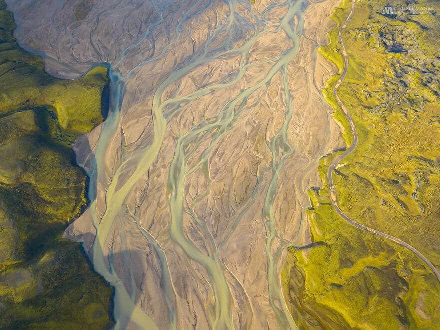 потрясающие виды Исландии, фото с дрона 17
