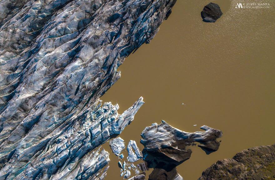потрясающие виды Исландии, фото с дрона 19