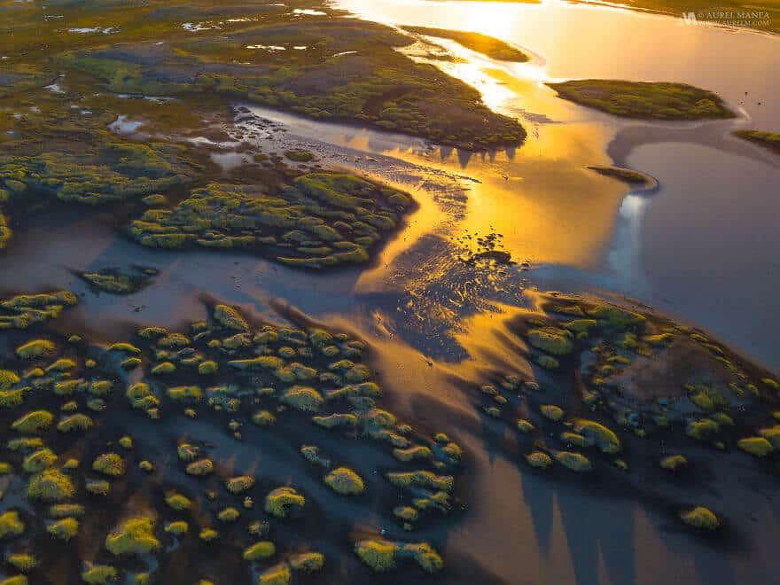 потрясающие виды Исландии, фото с дрона 3