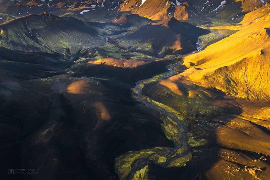 потрясающие виды Исландии, фото с дрона 4