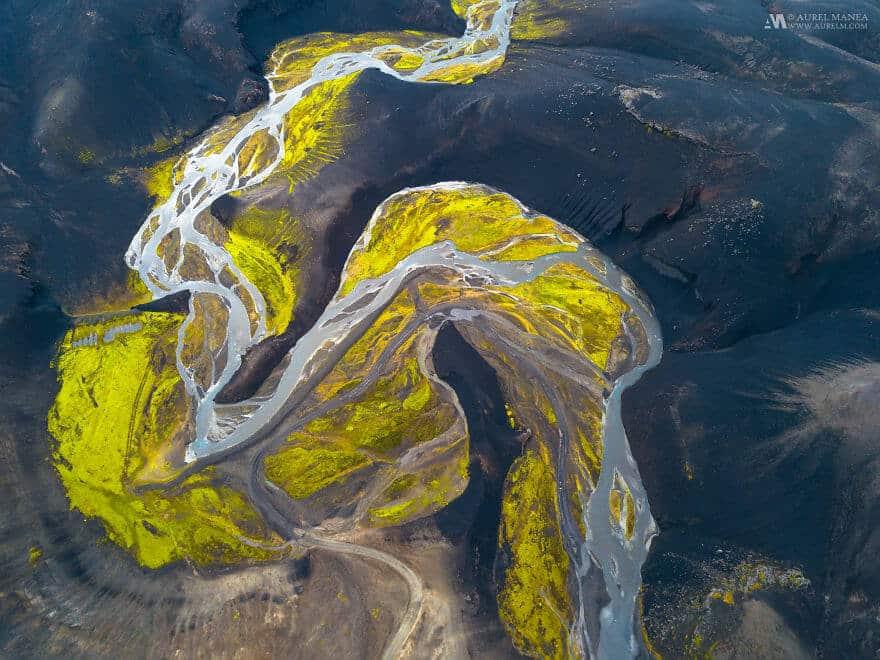 потрясающие виды Исландии, фото с дрона 6