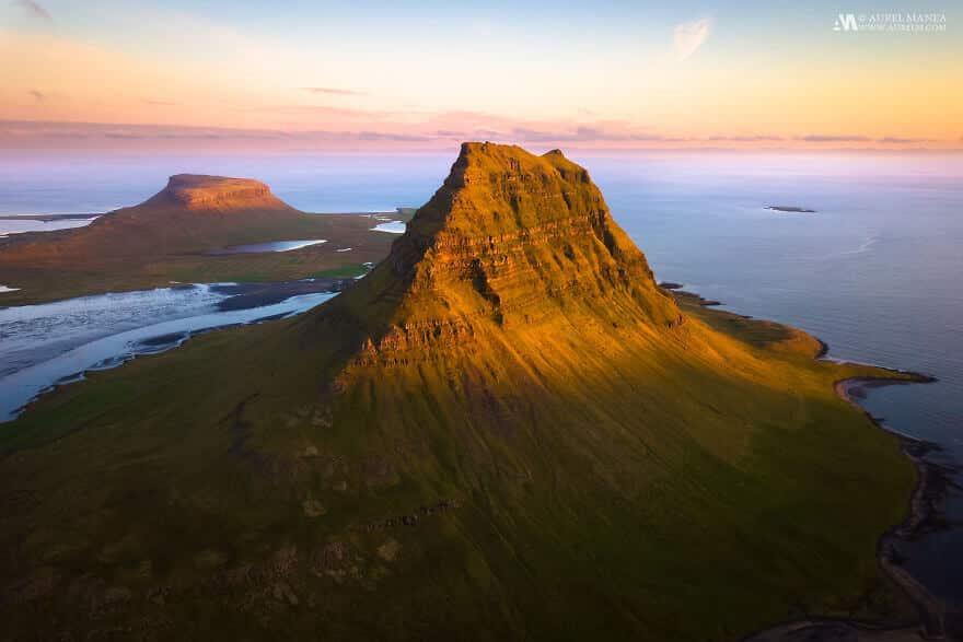 потрясающие виды Исландии, фото с дрона 7