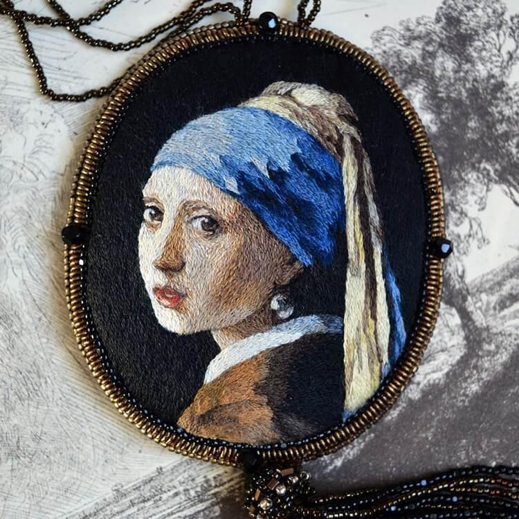 Вышитые портреты эпохи Возрождения, фото 20