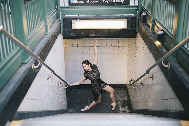 Танцоры балета на городских улицах, фото 1