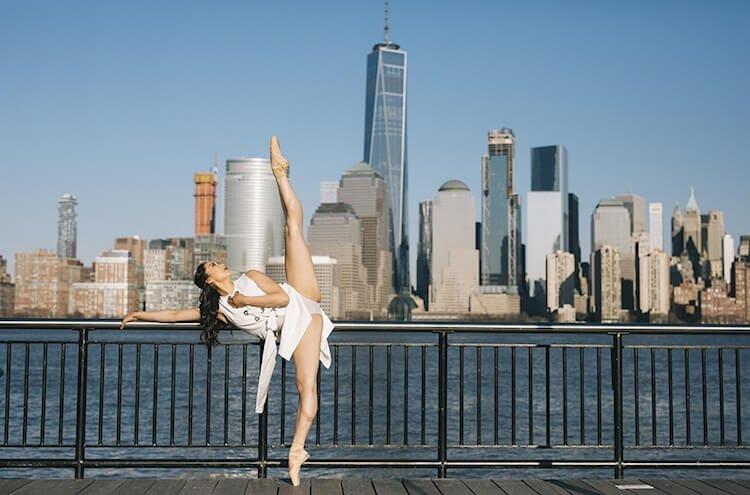Танцоры балета на городских улицах, фото 3