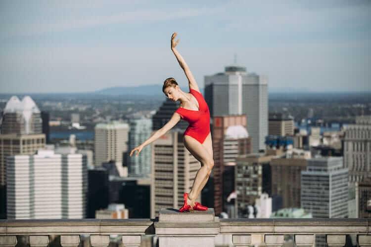 Танцоры балета на городских улицах, фото 8