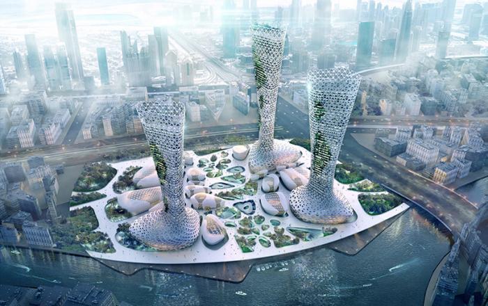 Инновационные небоскребы от компании Amorphoustudio