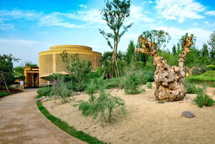 Сад кольцеобразной формы в китайском округе Урумчи