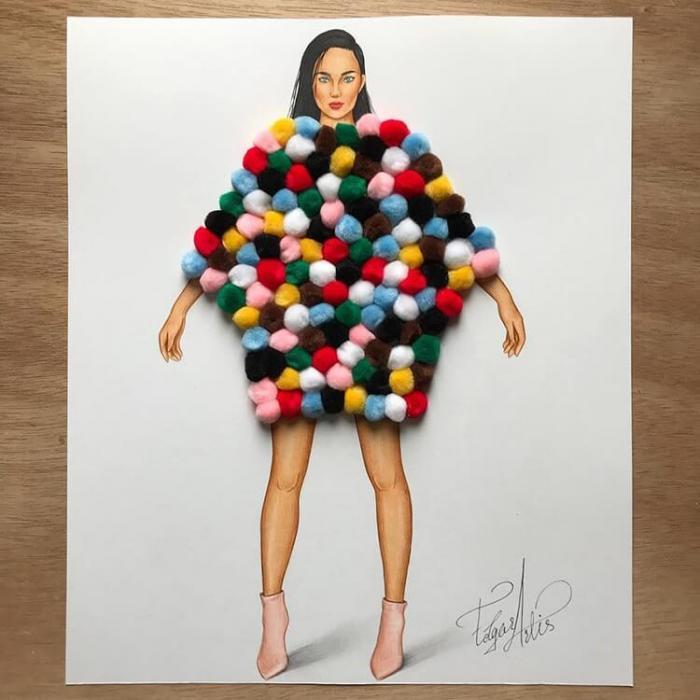 Модные и необычные вечерние платья в формате 3D