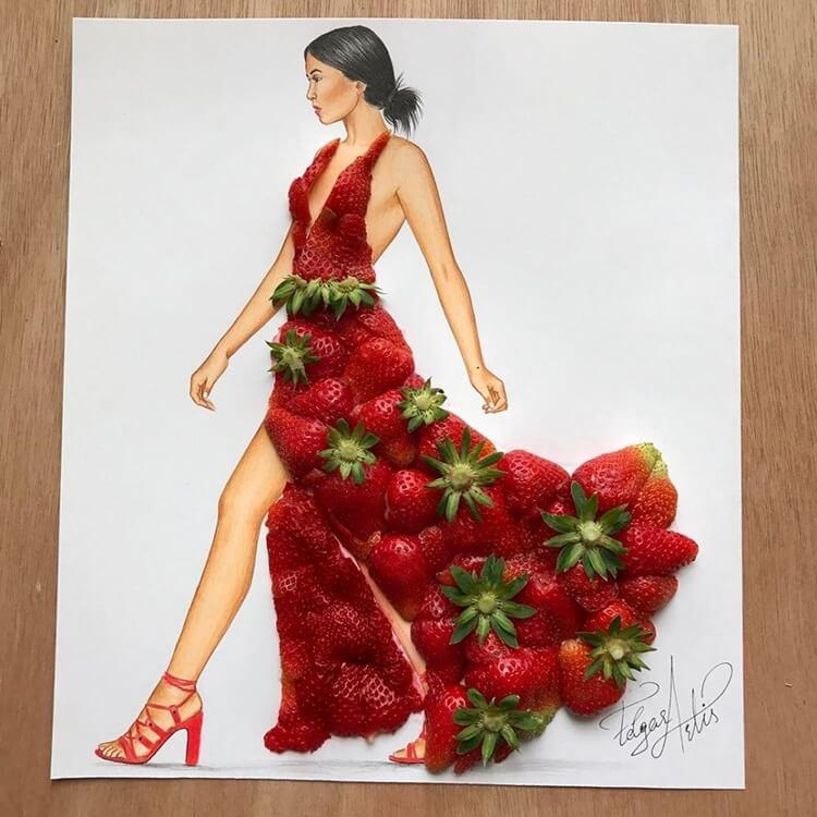 Платья из еды, фото 14