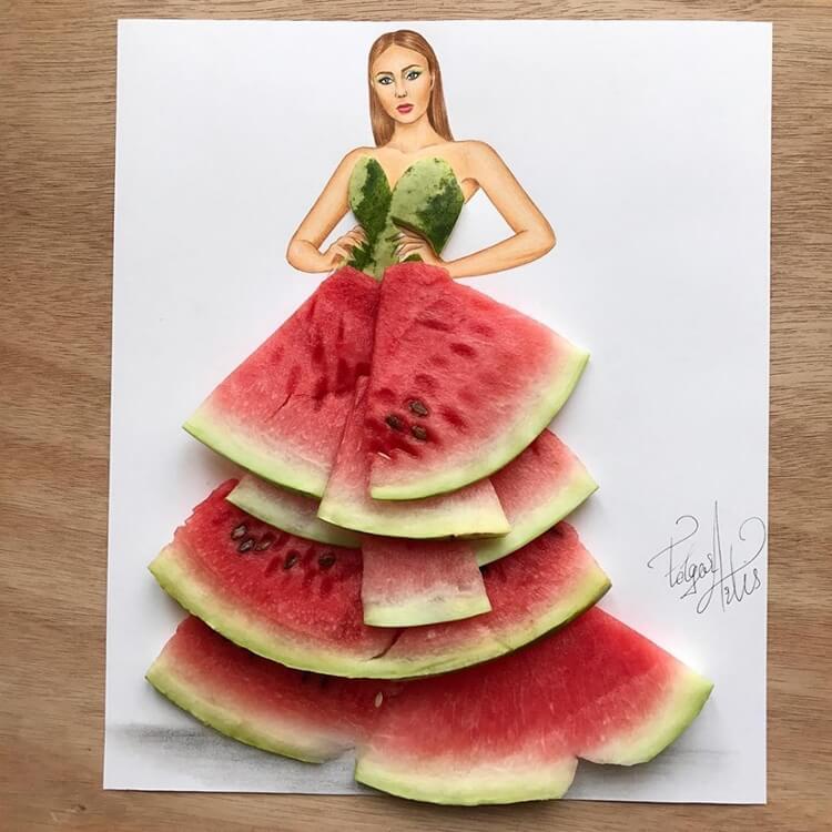 Платья из еды, фото 15