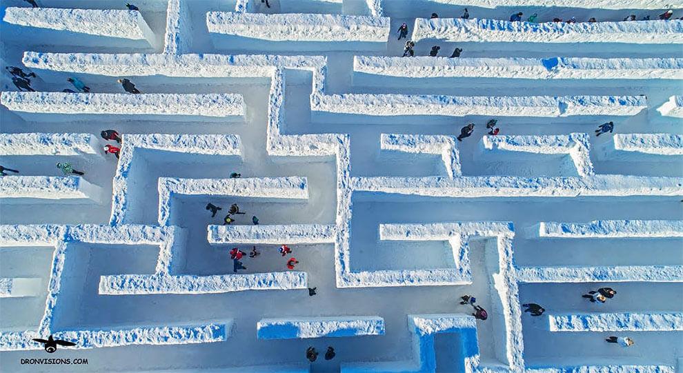 Самый большой в мире лабиринт из снега, фото 1