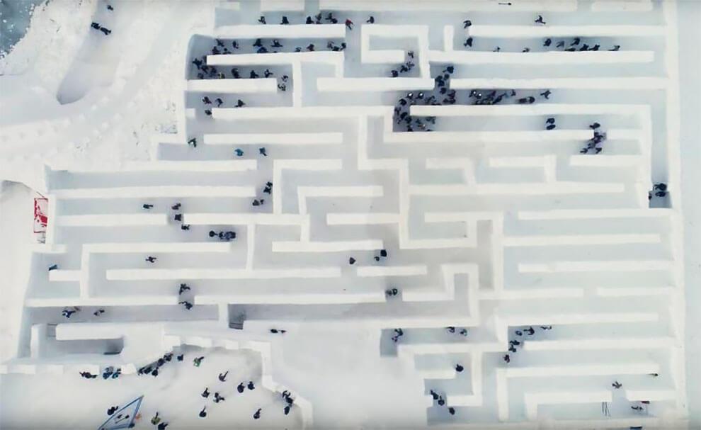Самый большой в мире лабиринт из снега, фото 2