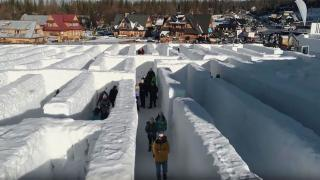Самый большой в мире лабиринт из снега, фото 3