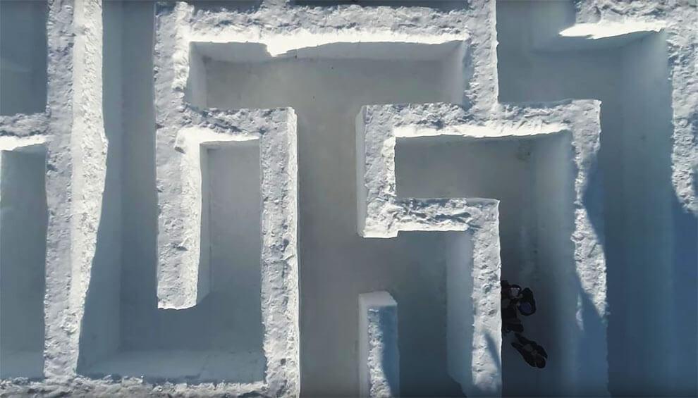 Самый большой в мире лабиринт из снега, фото 4