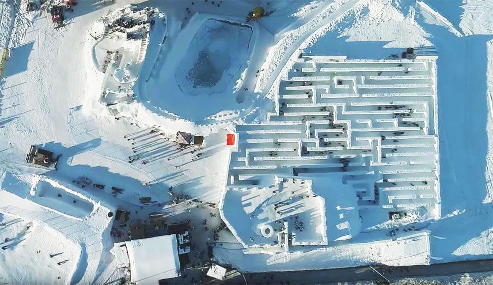 Самый большой в мире лабиринт из снега, фото 6