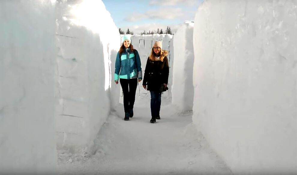 Самый большой в мире лабиринт из снега, фото 7