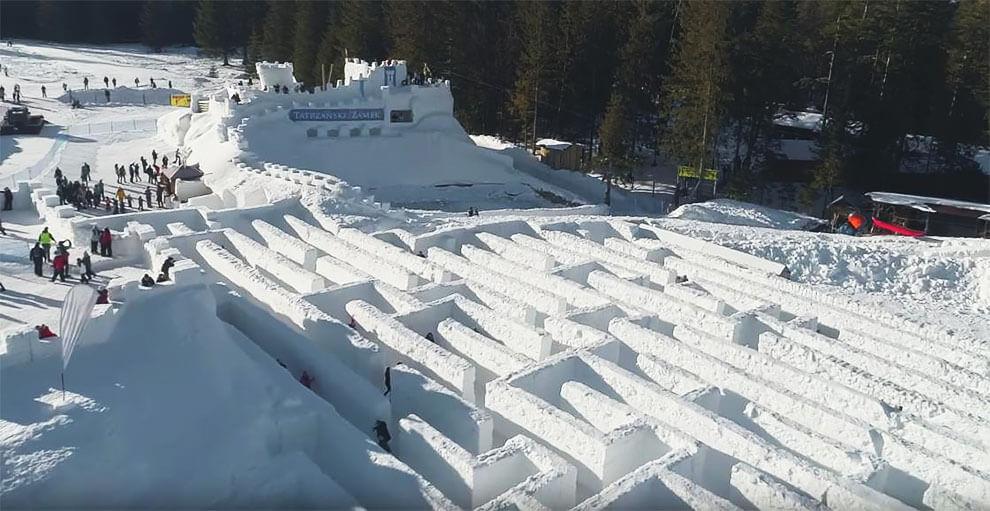 Самый большой в мире лабиринт из снега, фото 8