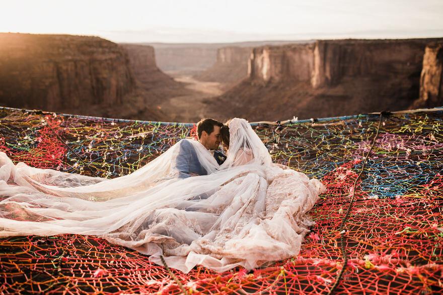 Свадебная фотосессия в воздухе, фото 10