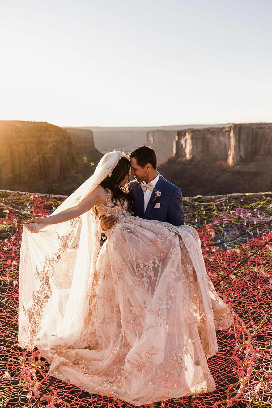 Свадебная фотосессия в воздухе, фото 11