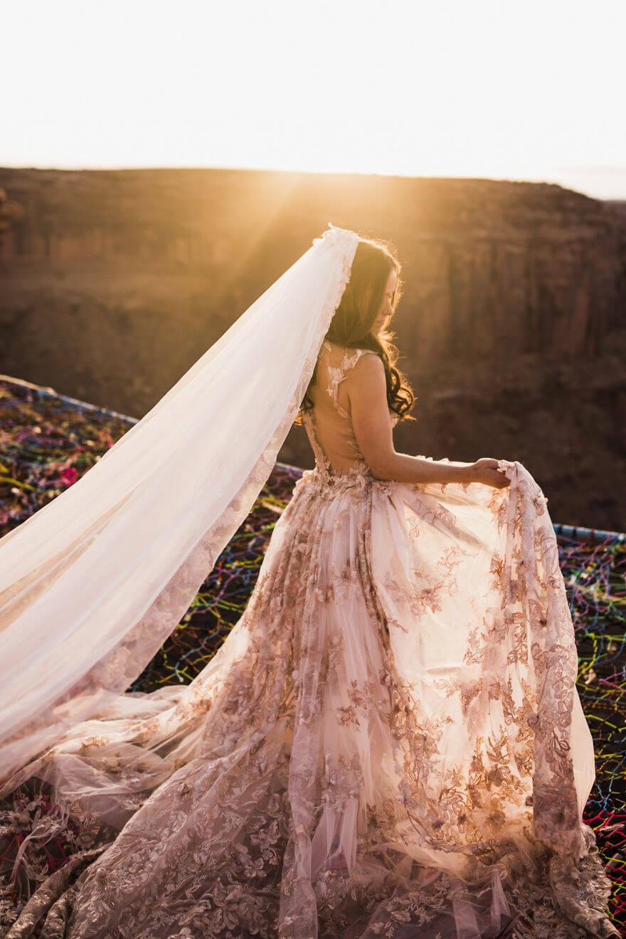 Свадебная фотосессия в воздухе, фото 13