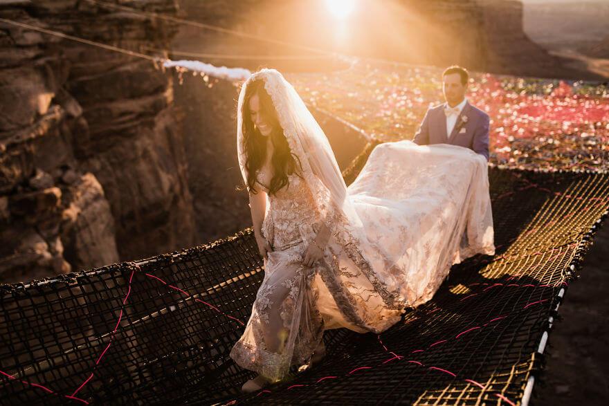 Свадебная фотосессия в воздухе, фото 14