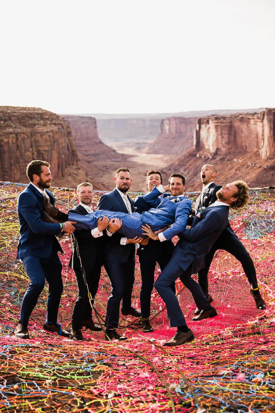 Свадебная фотосессия в воздухе, фото 15