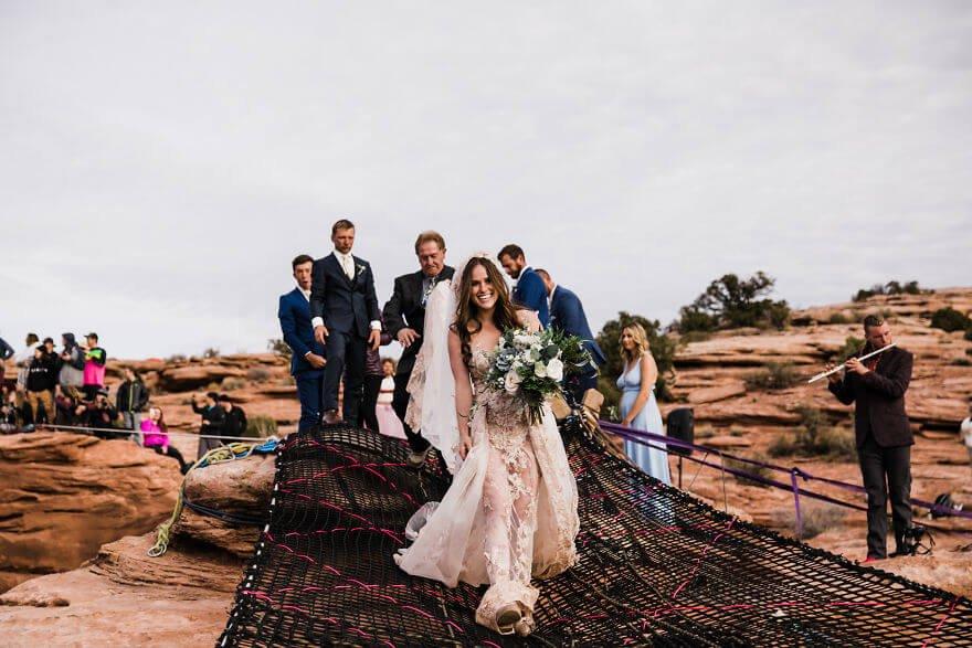 Свадебная фотосессия в воздухе, фото 2