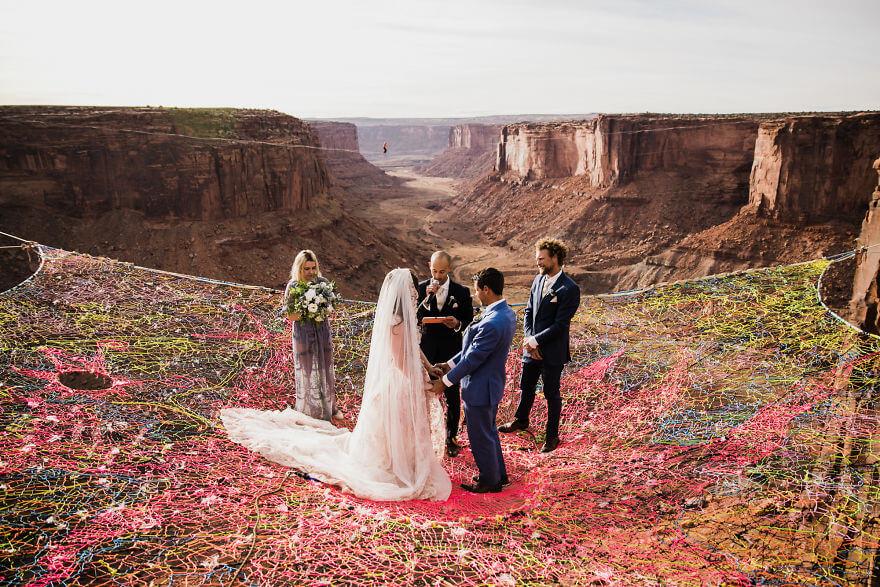 Свадебная фотосессия в воздухе, фото 4